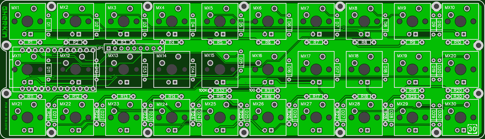 gherkin 1.1 PCB Front